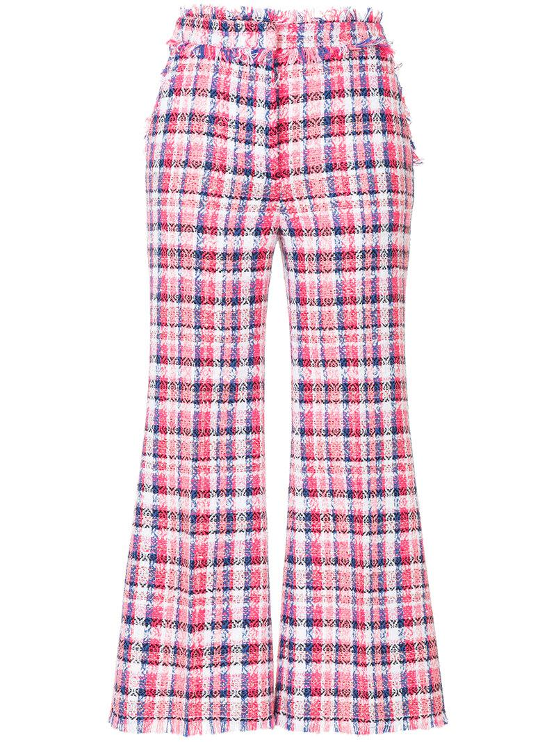 MSGM cropped tweed trousers Visit New Deals Cheap Online Cheap Sale Cheap Sale Very Cheap rhu6sqATTF