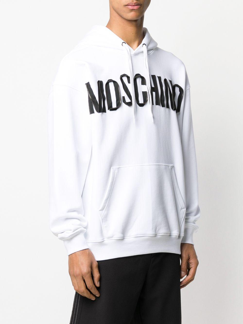 Moschino Hoodie Met Logo in het Wit voor heren