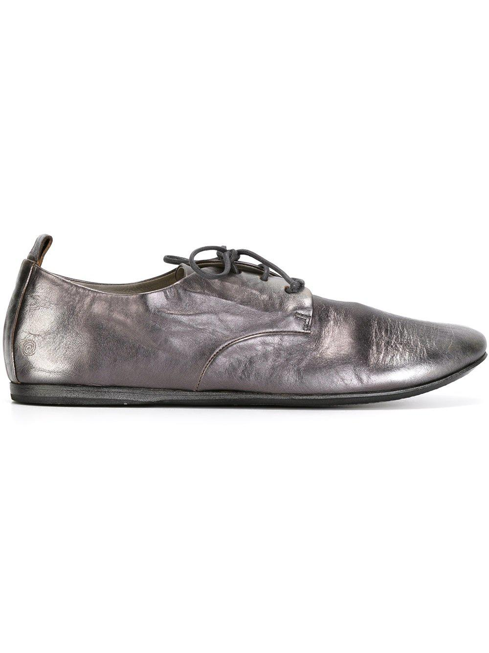 Marsèll Leather Metallic Derby Shoes in Grey (Grey) for Men