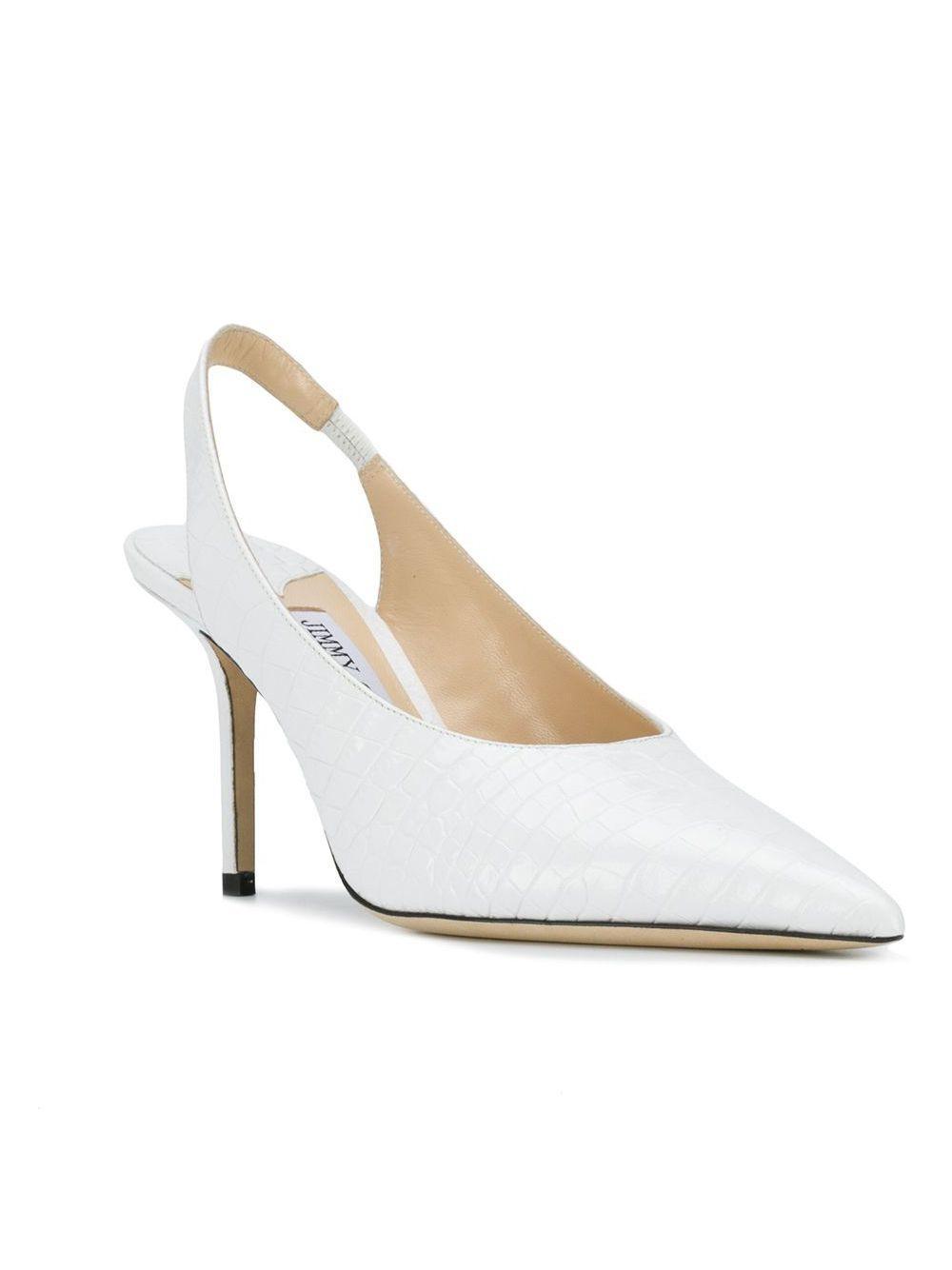 Zapatos de tacón Ivy 85 Jimmy Choo de Cuero de color Blanco