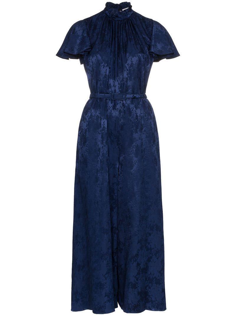 8ce453812c Erdem - Blue Ellemay Jacquard Print Jumpsuit - Lyst. View fullscreen