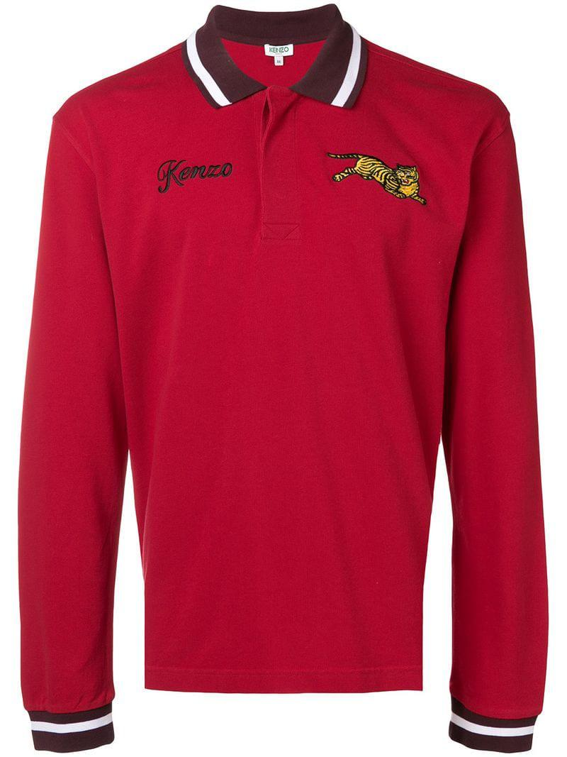 f747d922 KENZO Jumping Tiger Polo Shirt in Red for Men - Lyst