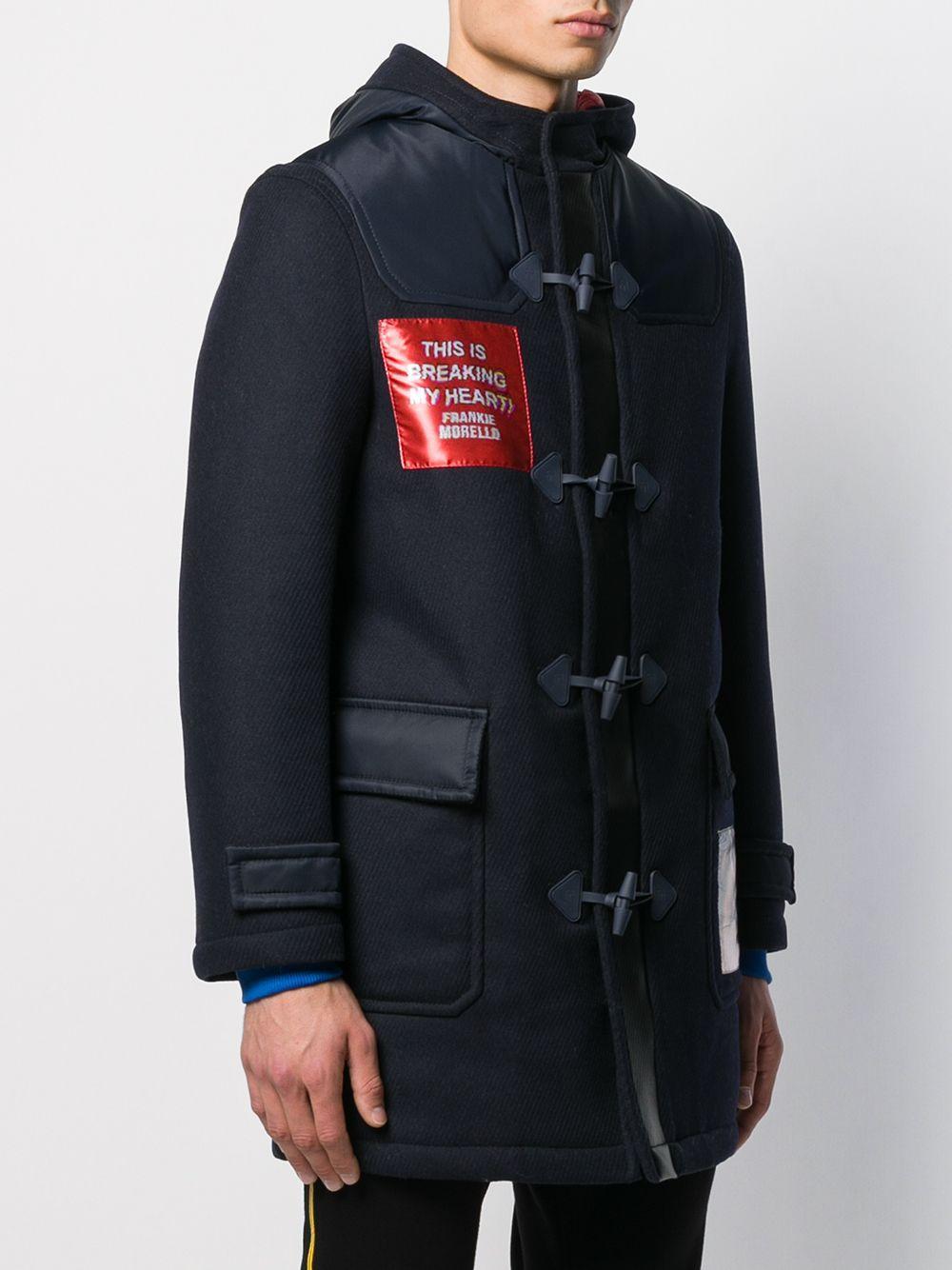 Frankie Morello Synthetisch Montgomery Duffle Coat in het Blauw voor heren
