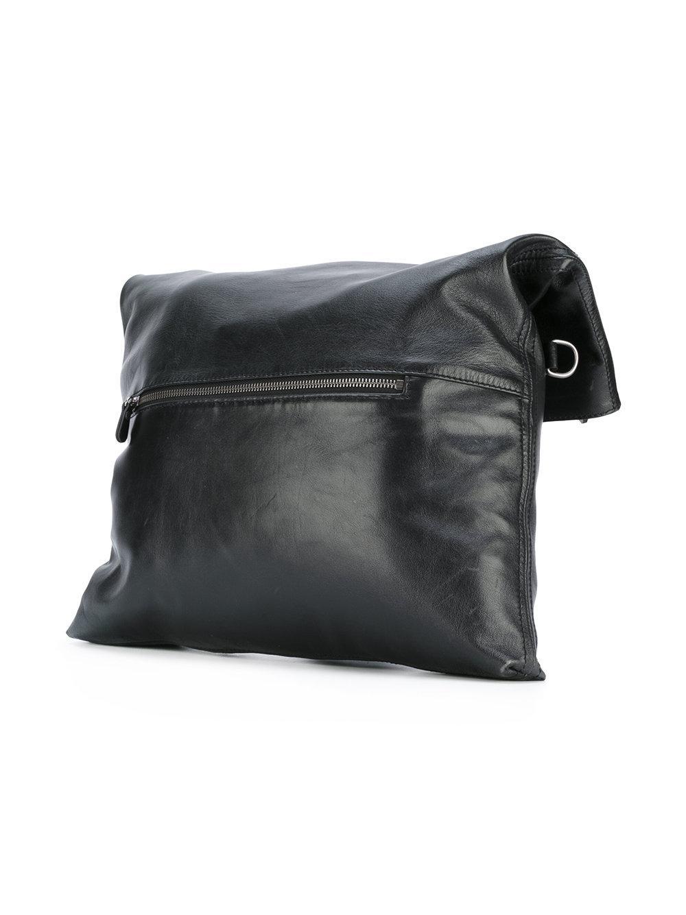 A.F.Vandevorst Leather Shoulder Strap Tote Bag in Black
