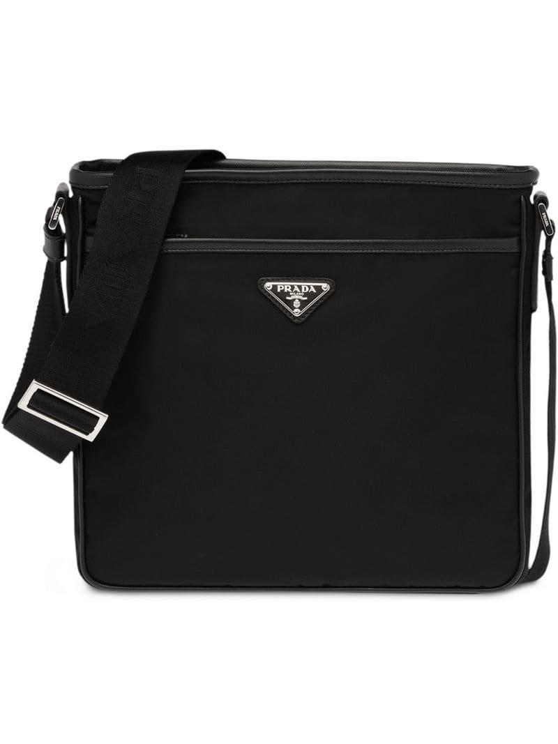 4f23c9c5c853 Prada - Black Nylon Shoulder Bag for Men - Lyst. View fullscreen