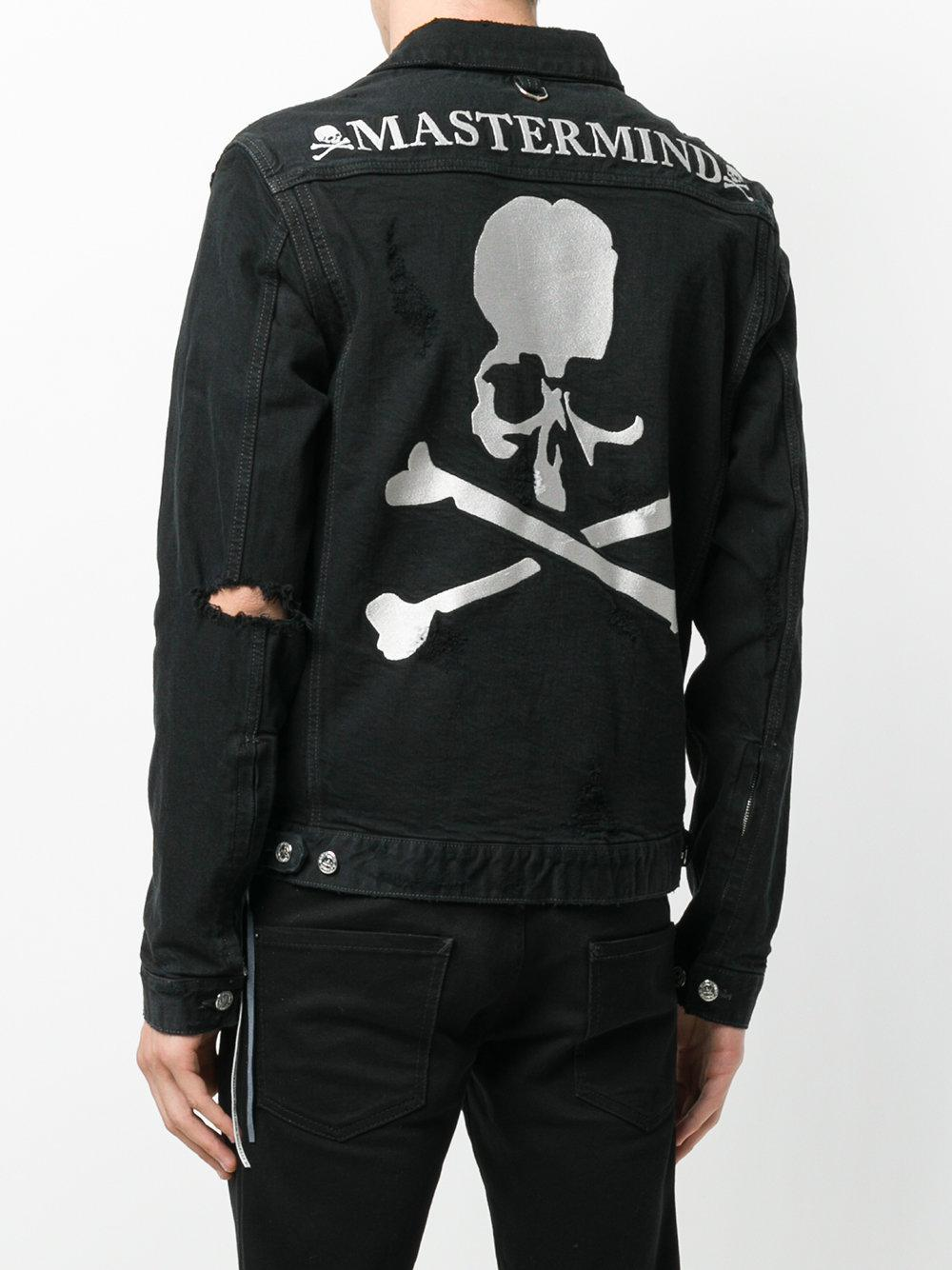 Mastermind Japan Denim Skull And Crossbones Jacket in Black for Men