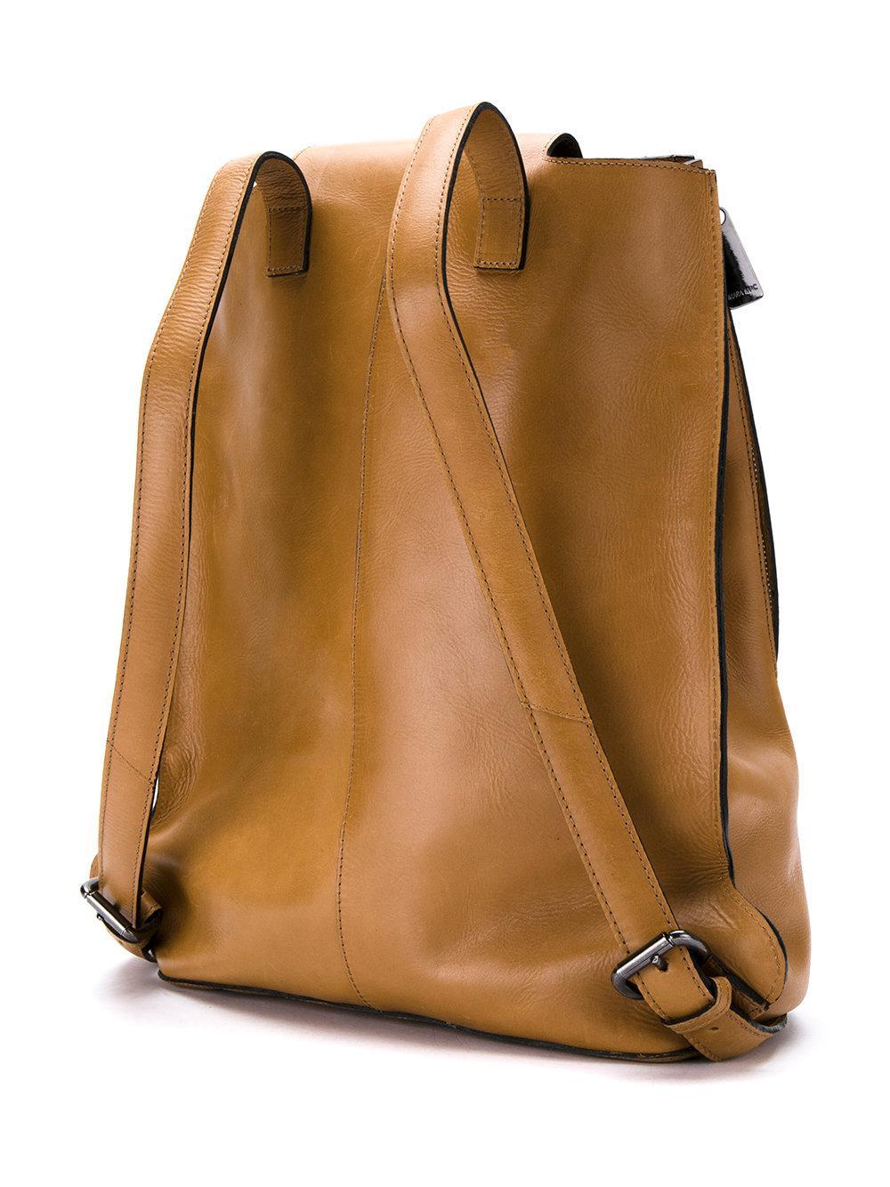 Mara Mac Leather Zip Backpack in Brown