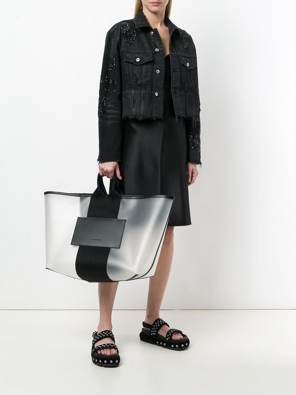 Alexander Wang Canvas Translucent Tote in White