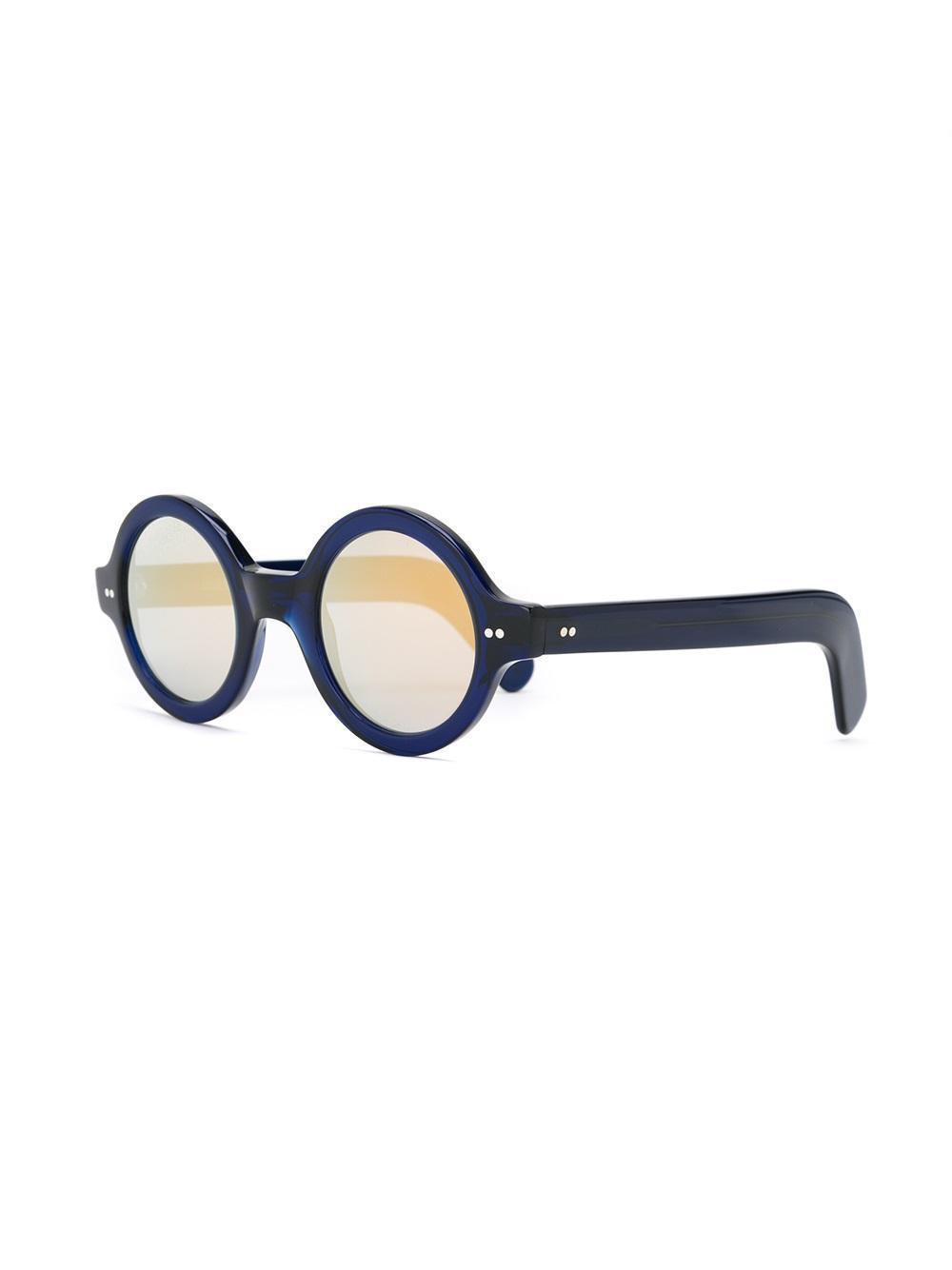 Cutler & Gross Round Framed Sunglasses in Blue