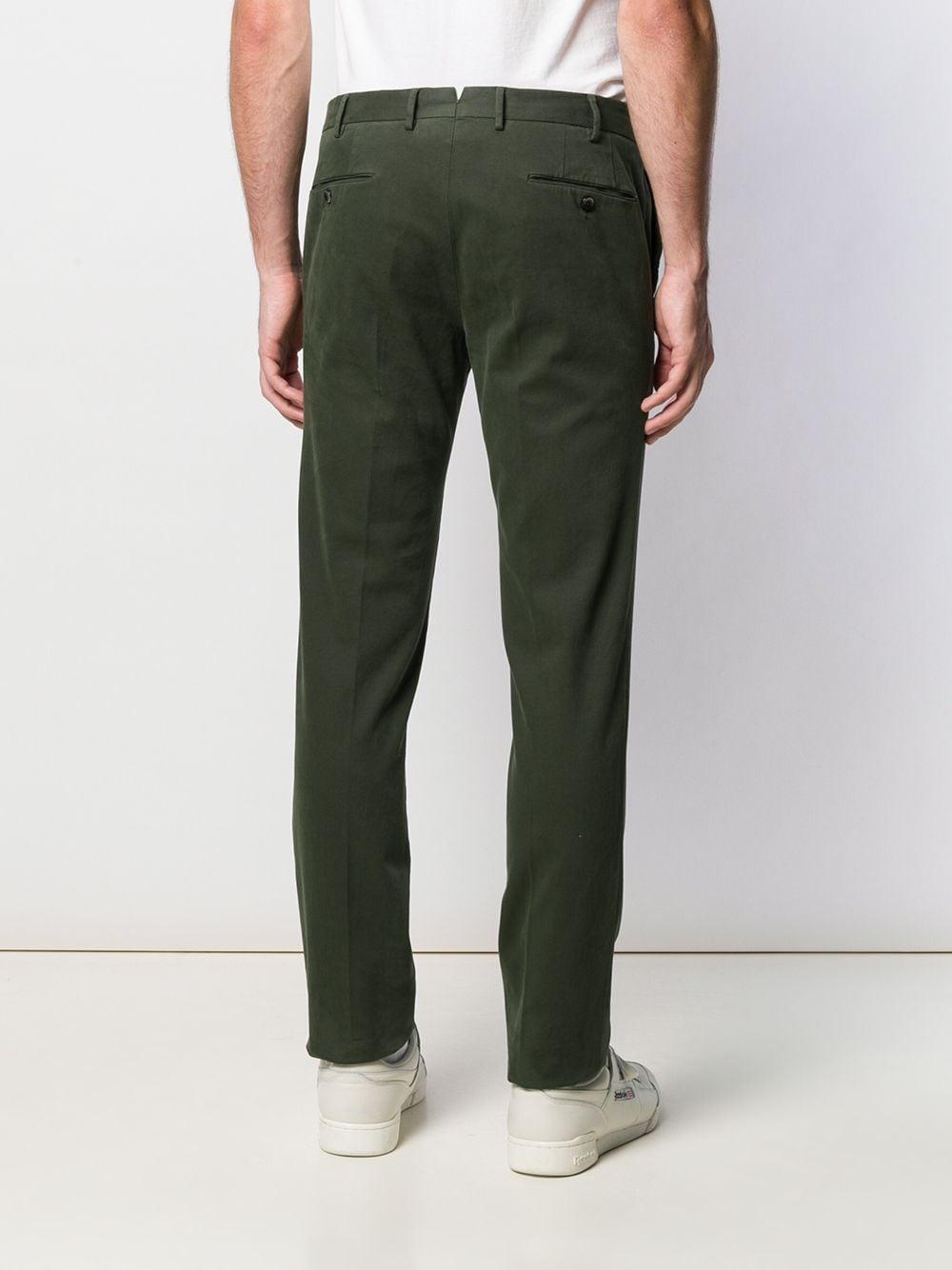 PT01 Katoen Slim-fit Broek in het Groen voor heren