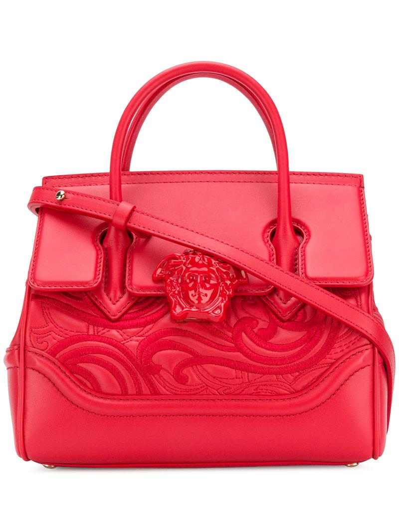 543cc4ca1b8f Versace Palazzo Empire Tote Bag in Red - Lyst