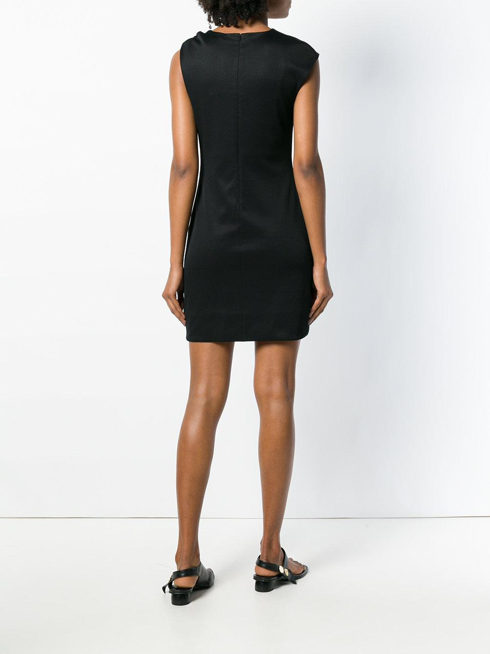 Asymmetric shoulders mini dress Synthétique Helmut Lang en coloris Noir