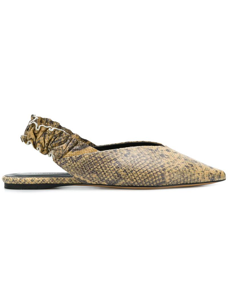 0bdadd4cea2 Isabel Marant Linta Ballerina Shoes in Brown - Lyst