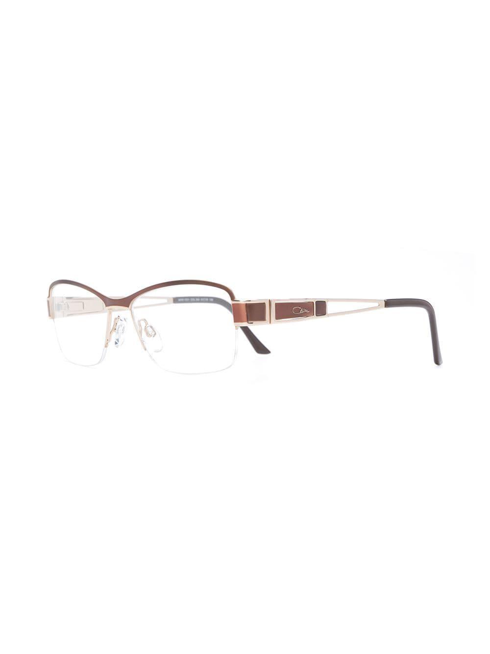 Cazal Rectangle Frame Glasses in Brown - Lyst