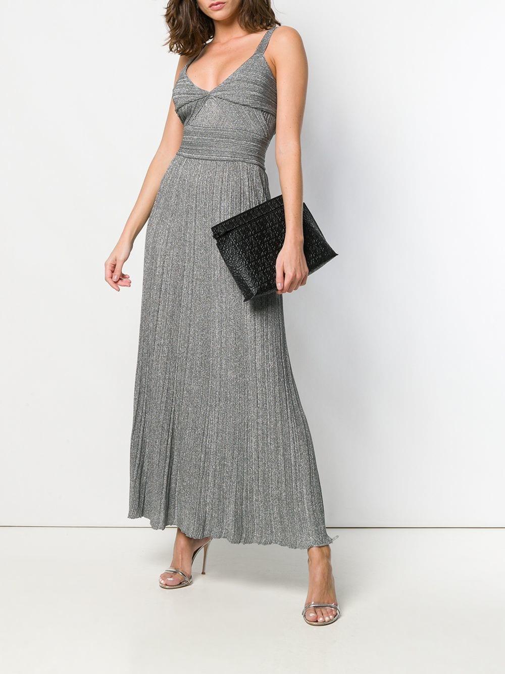Vestido largo Polyxena Antonino Valenti de Tejido sintético de color Gris