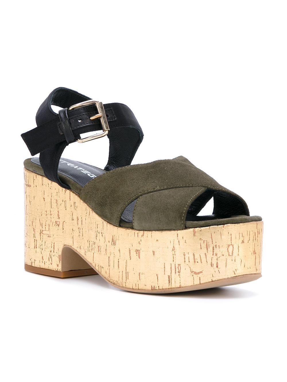 Strategia Crossover platform sandals yOPHo3NGlC