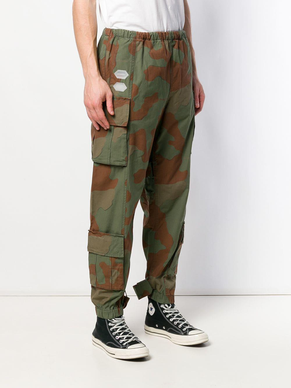 Pantalones Tipo Cargo Militares Off White C O Virgil Abloh De Algodon De Color Verde Para Hombre Lyst