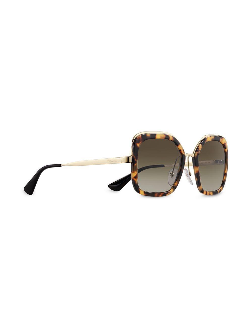 131d6c7e97057 Lyst - Prada Oversized Square Sunglasses in Brown