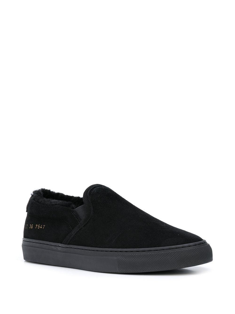 Zapatillas bajas slip-on Common Projects de Ante de color Negro