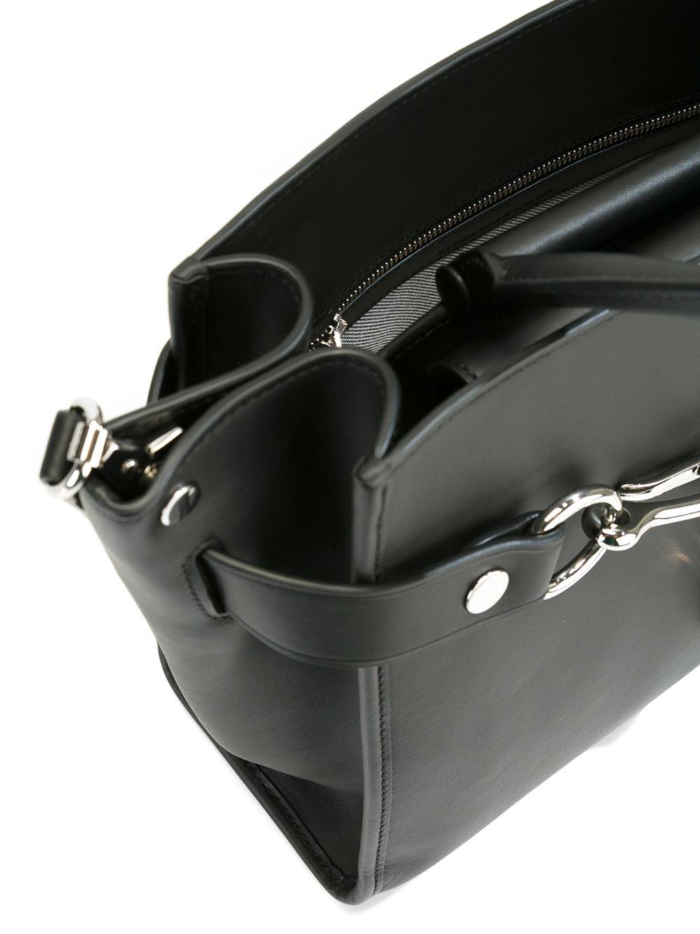 Alexander Wang Leather 'attica' Tote in Black