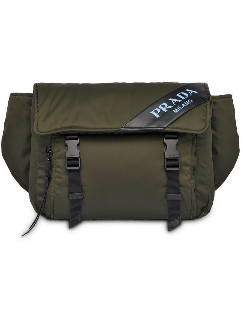 c375a40413273 Prada - Green Nylon And Leather Belt Bag - Lyst. View fullscreen