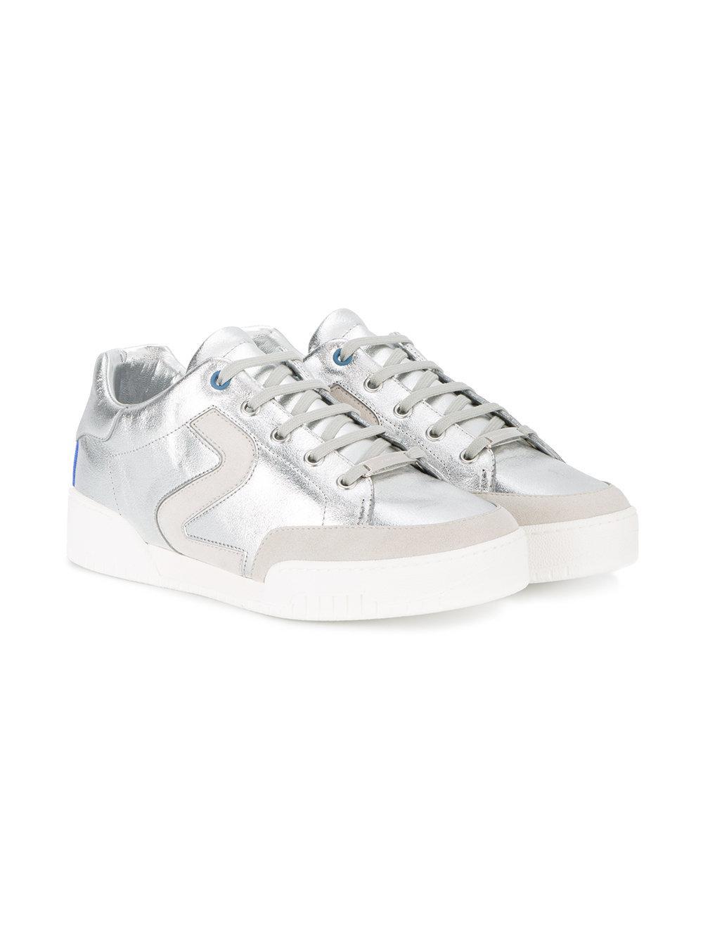 Stella McCartney Rubber 'stella' Silver Sneakers in Metallic