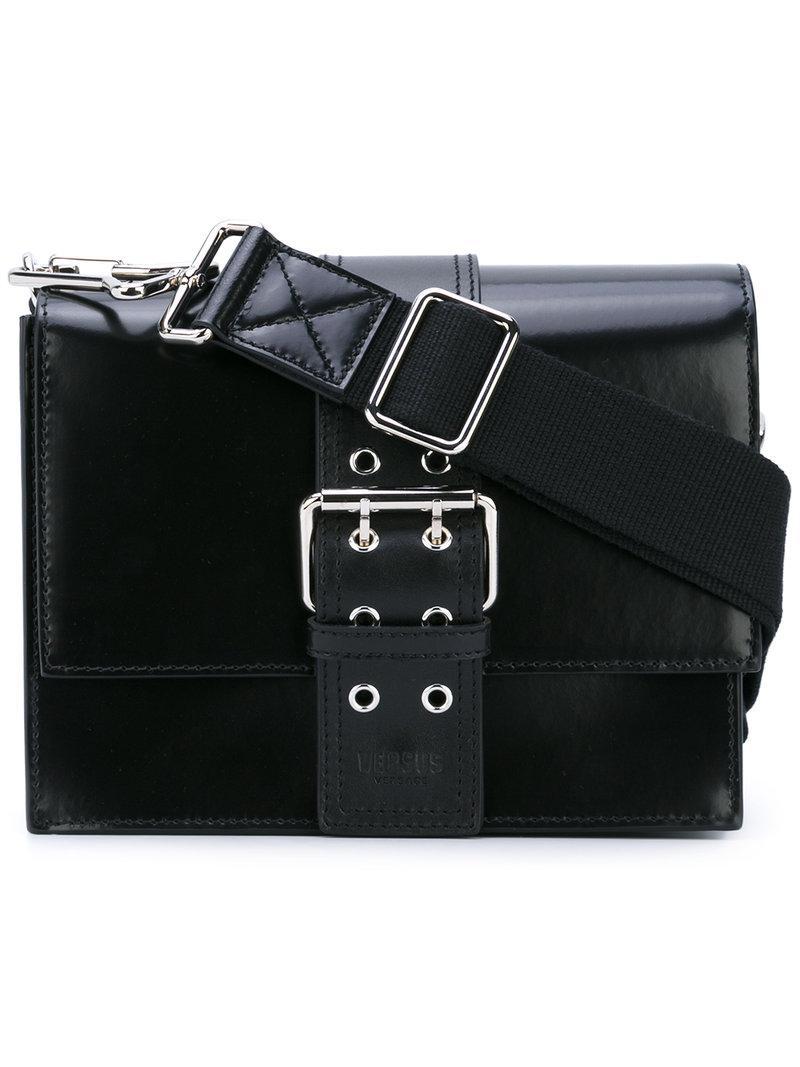 Versus buckled shoulder bag - Black RUpHm9skK