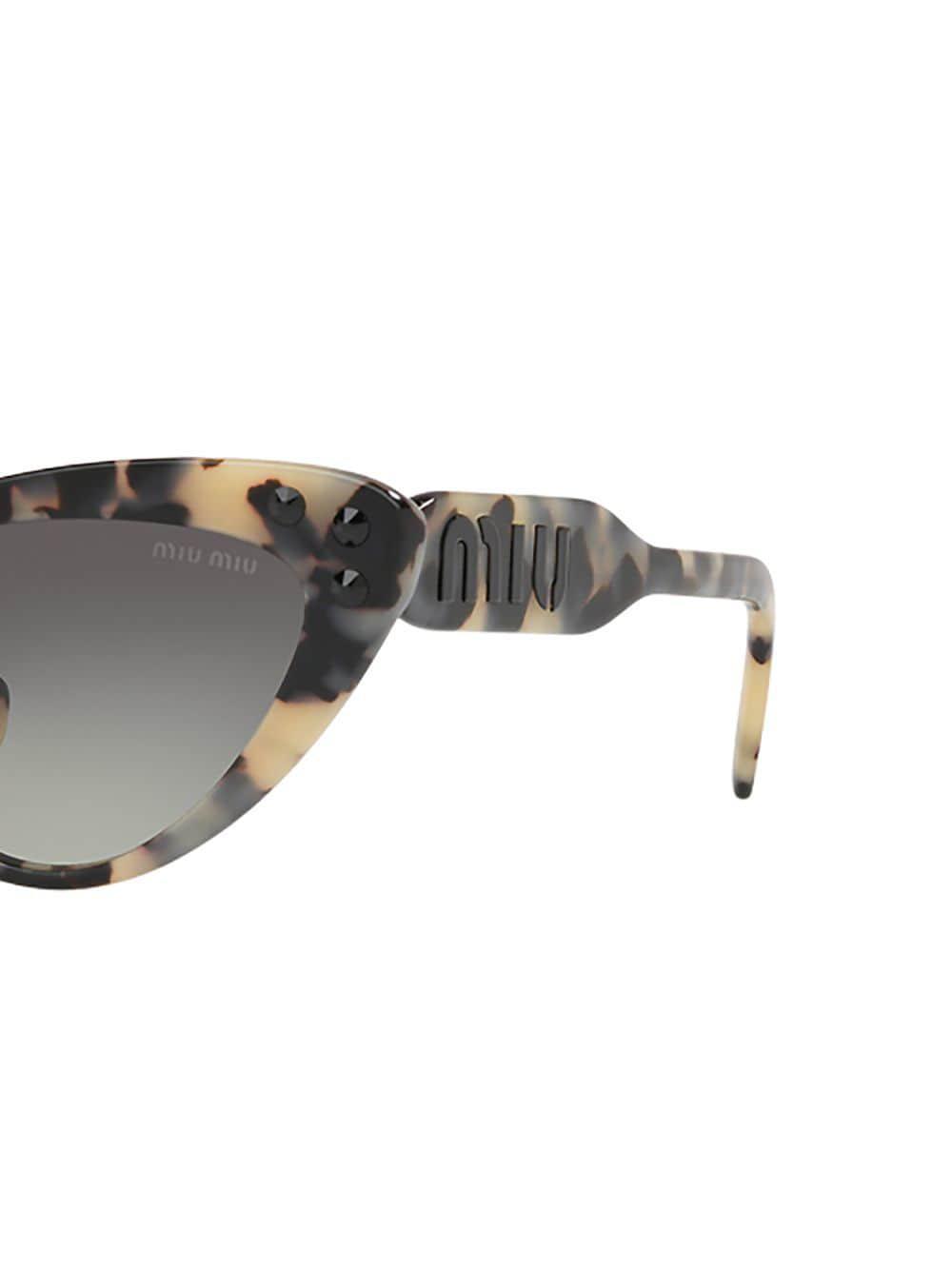 e378795523f9 Miu Miu - Multicolor Cat Eye Sunglasses - Lyst. View fullscreen