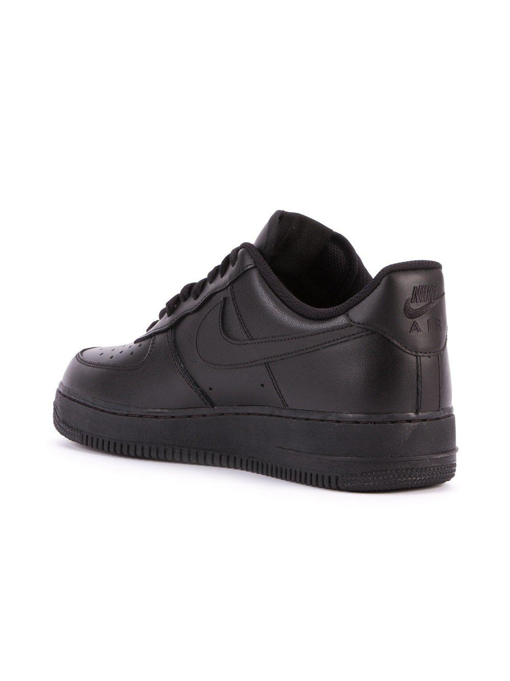 Nike Leather 'air Force 1 '07' Sneakers in Black