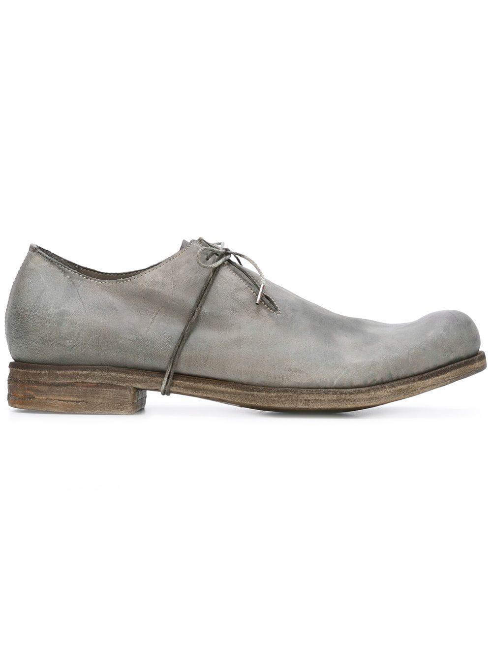A Diciannoveventitre Leather Round Toe Derby Shoes in Grey (Grey) for Men