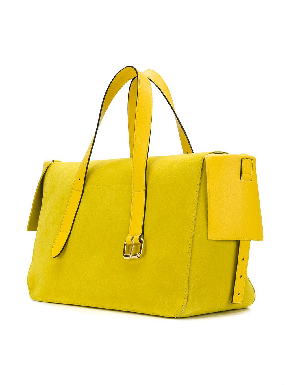 JW Anderson Leather Tool Tote Bag in Yellow & Orange (Yellow)