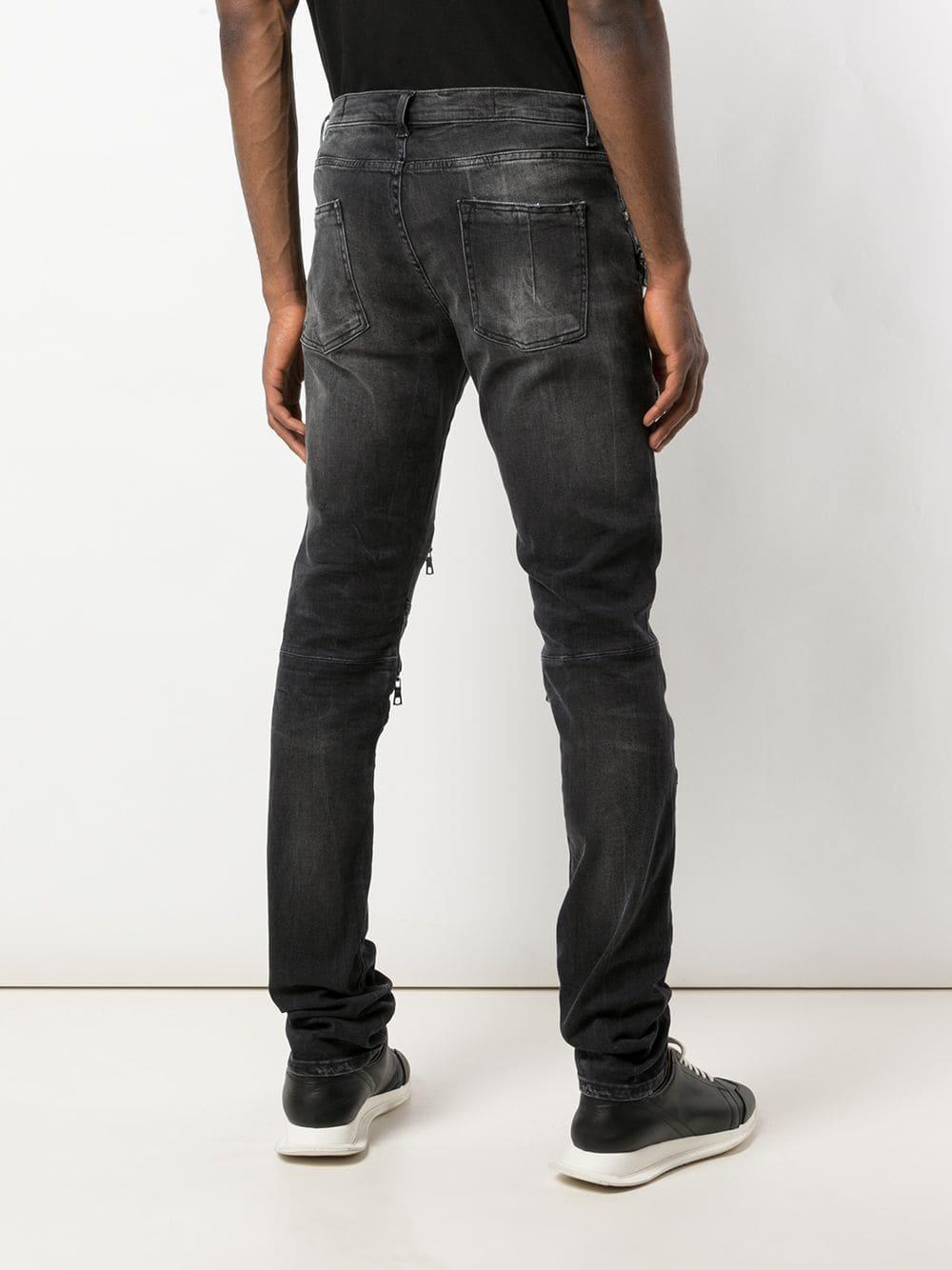 Unravel Project Denim Jeans Met Meerdere Ritsen in het Zwart voor heren