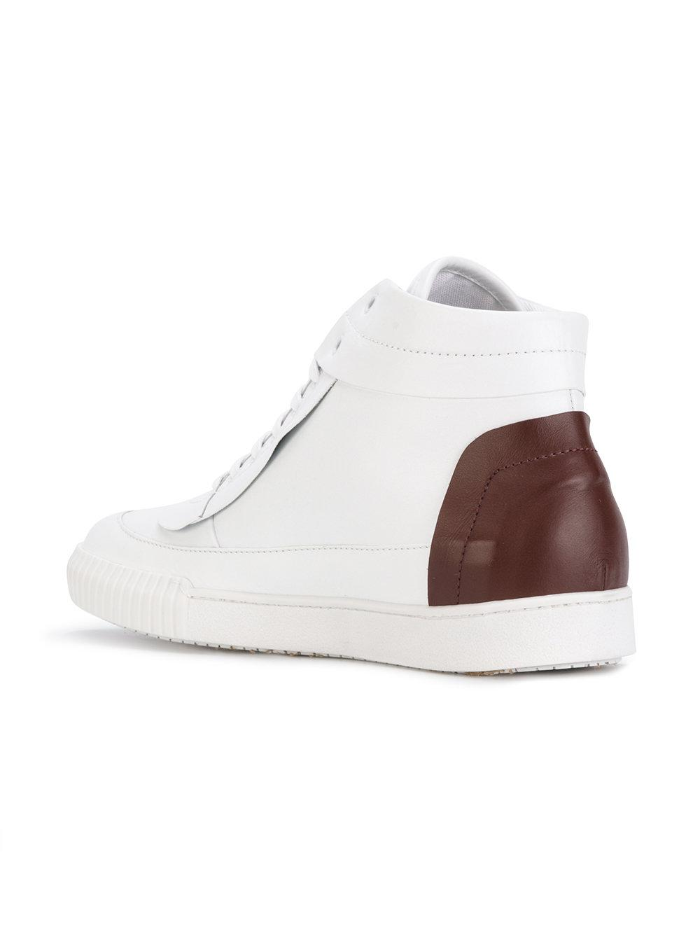 Marni Leather Hi-top Sneakers in White