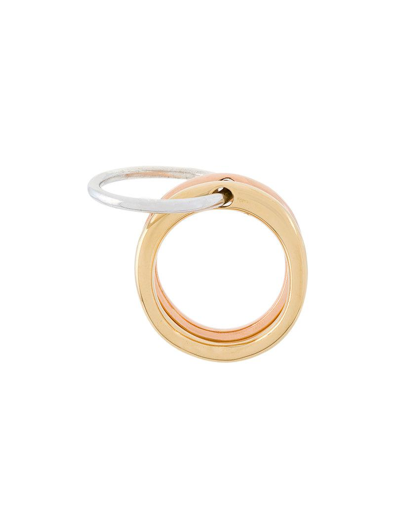 contrast ring - Metallic Charlotte Chesnais Buy Cheap Geniue Stockist Clearance Countdown Package JuTiSRrB