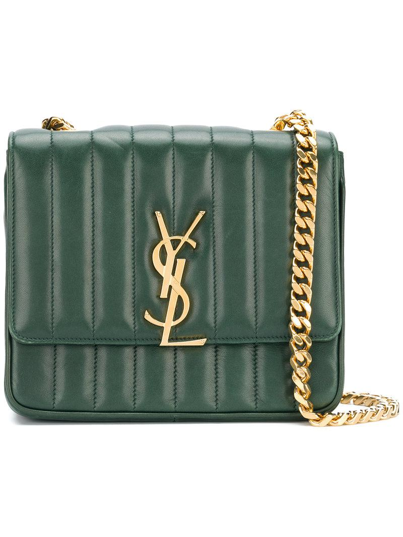 ae17727f31 Lyst - Saint Laurent Medium Vicky Chain Bag in Green