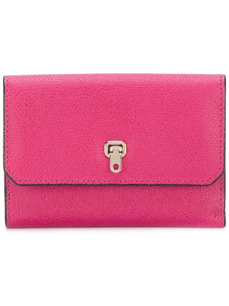 continental clasp wallet - Pink & Purple Valextra