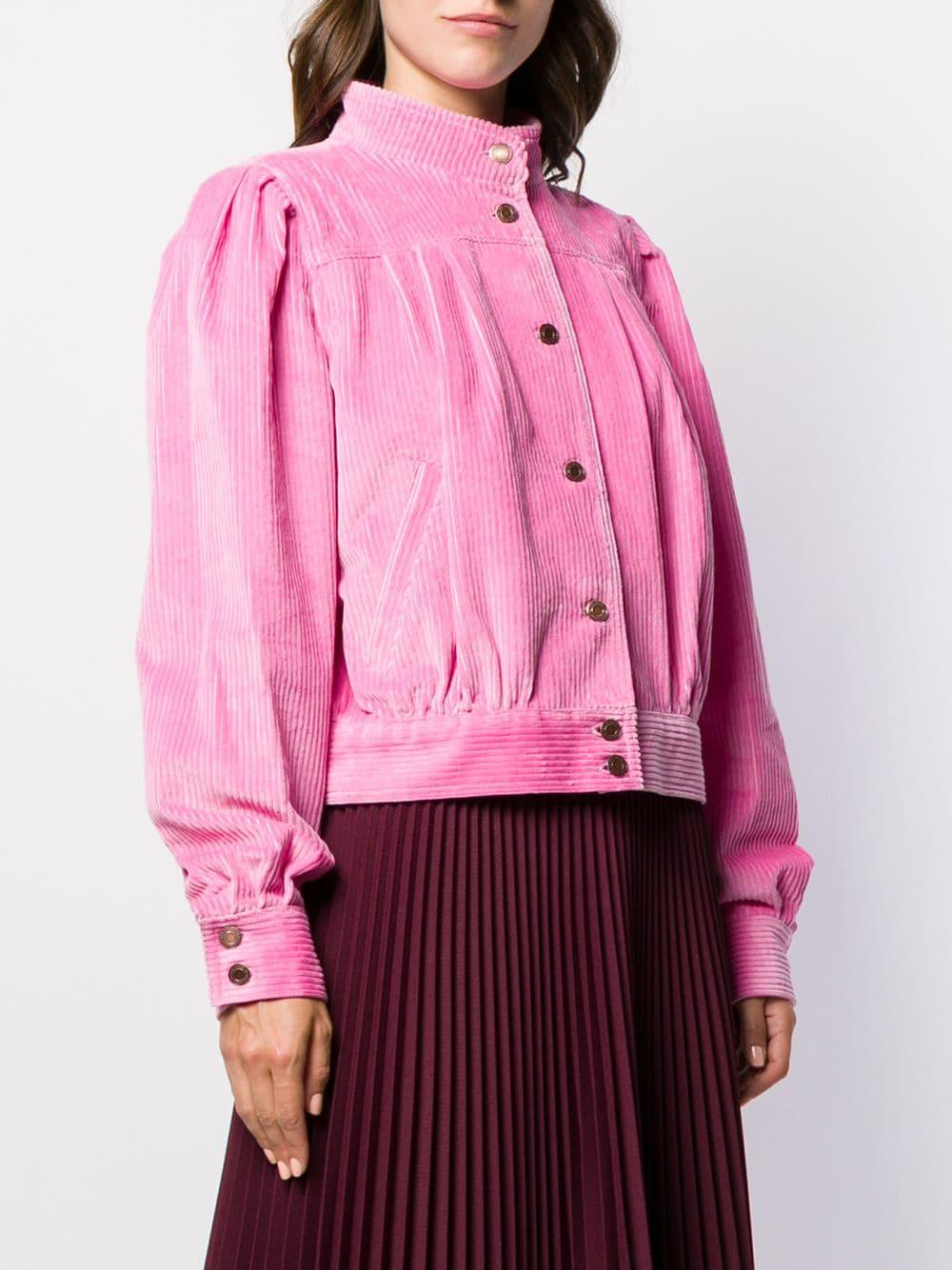 Chaqueta bomber de pana Marc Jacobs de Pana de color Rosa