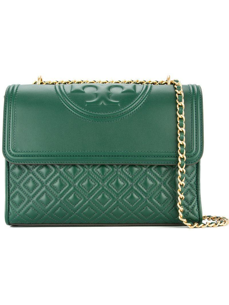8f8d2e03eae3 Lyst - Tory Burch Fleming Convertible Shoulder Bag in Green