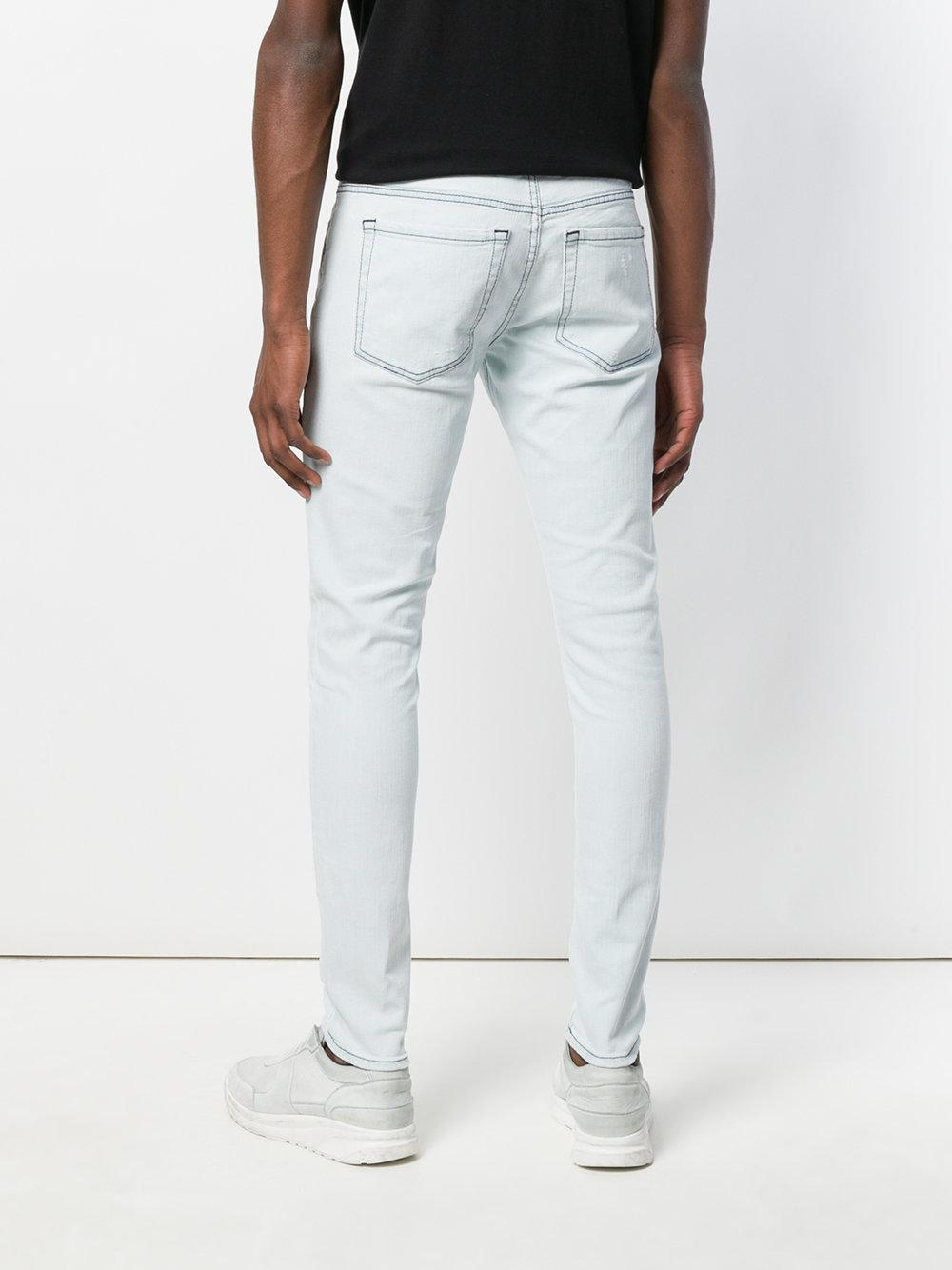 Represent Denim Jeans With Shoestring Belt in Blue for Men