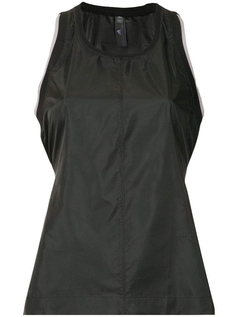 Lyst - Adidas By Stella Mccartney Cut Out Racerback Tank Top in Black 52dacee21