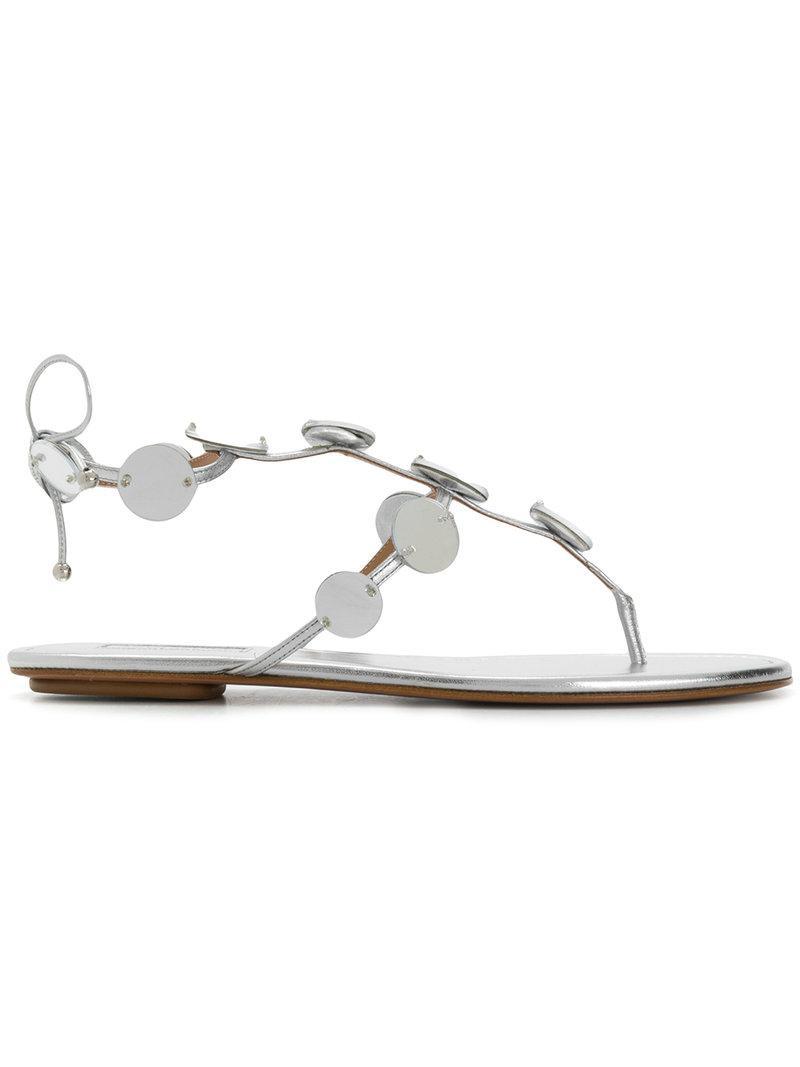 Aquazzura Mirror detail sandals Discount Deals Lowest Price Cheap Online 6Pu3ODI
