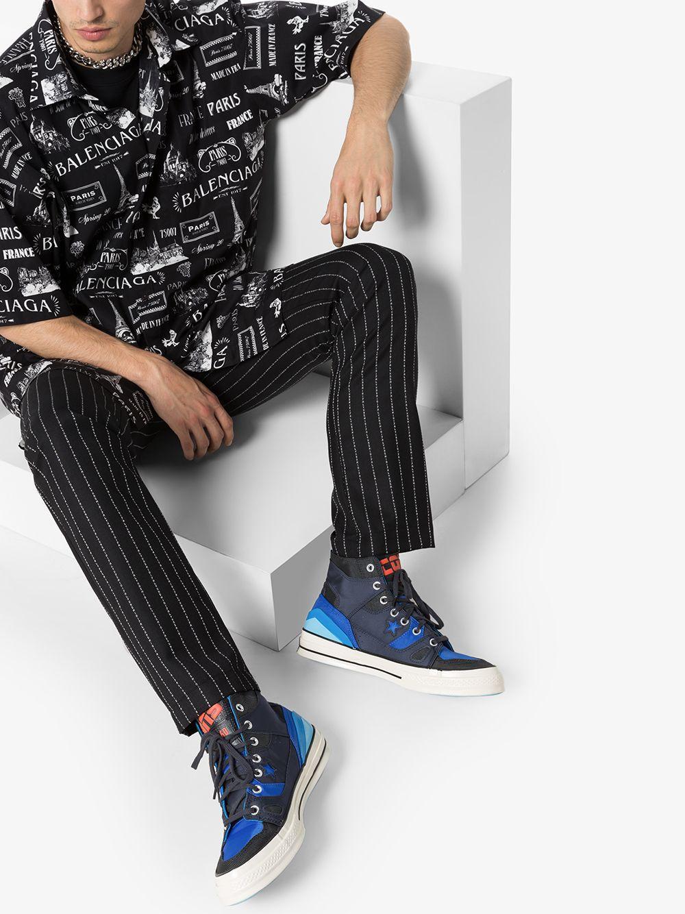 Zapatillas altas Parisian Converse de Tejido sintético de color Negro para hombre