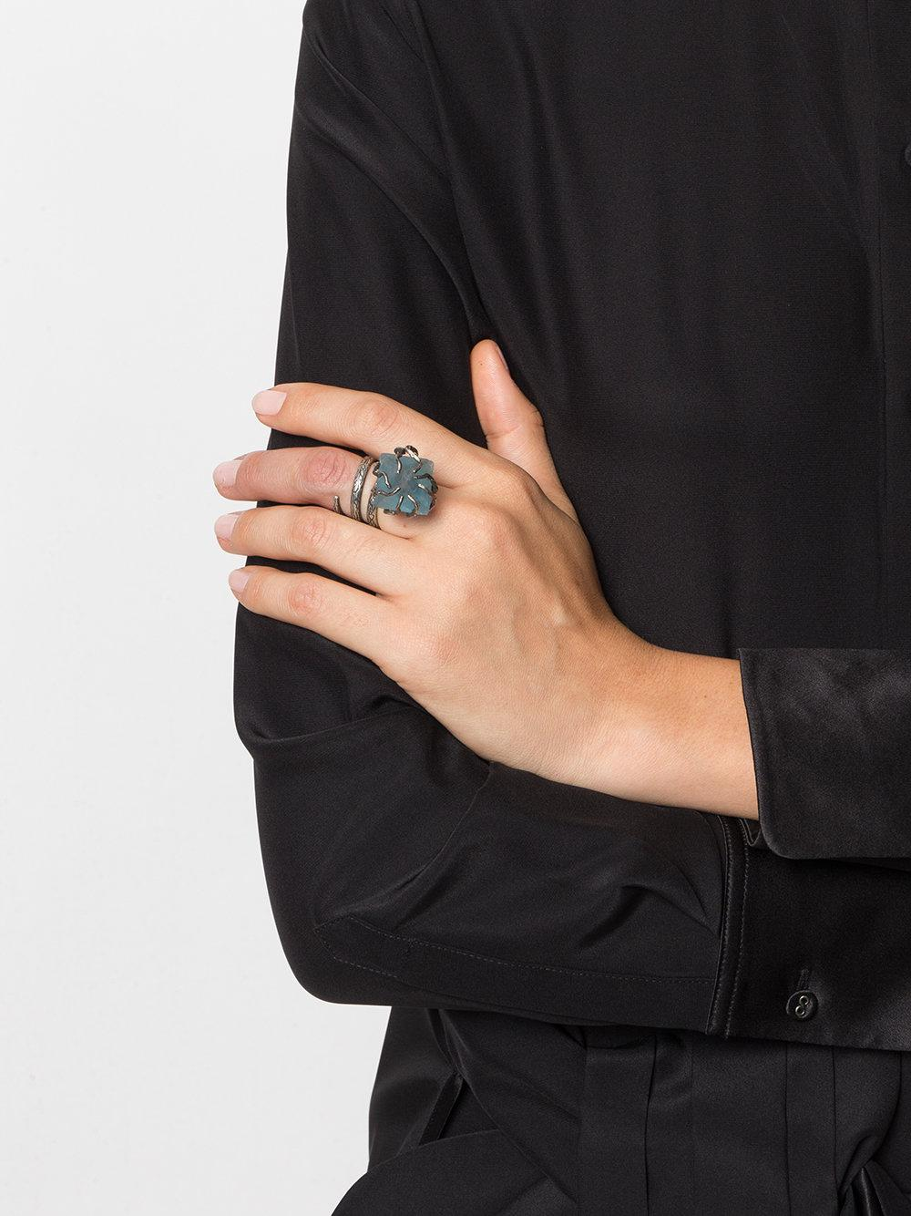 Midgard Paris Roots Ring in Metallic