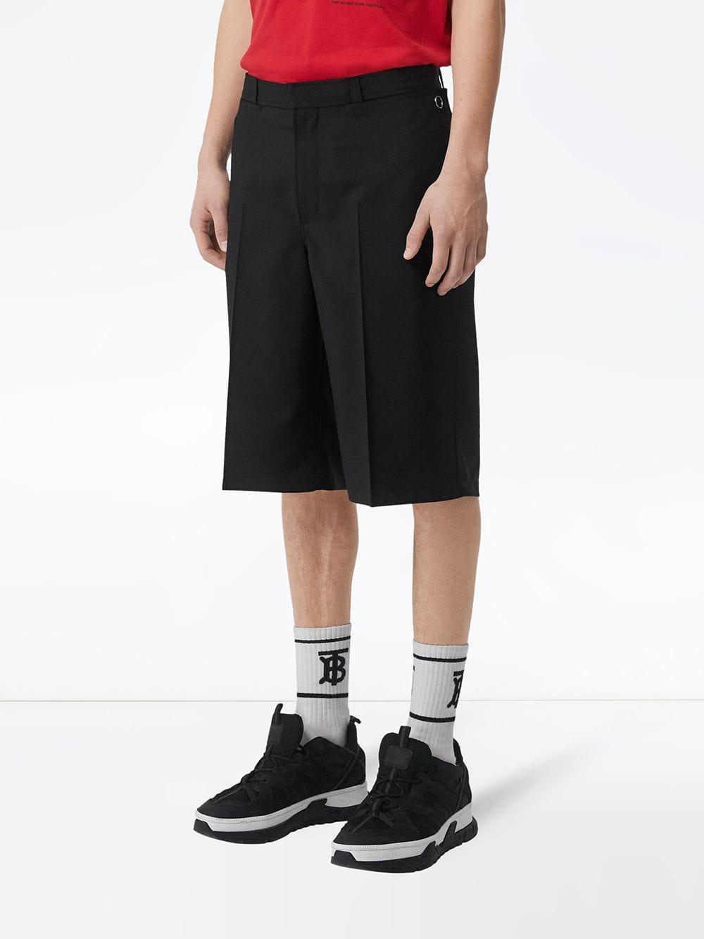 Burberry Wol Shorts Van Mohair in het Zwart voor heren