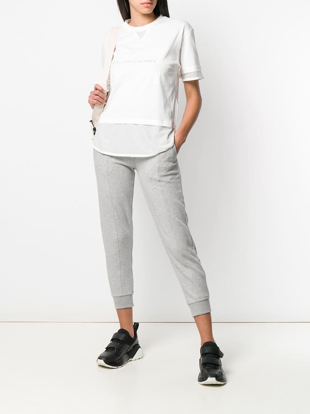 6217592f2 Lyst - adidas By Stella McCartney High Waisted Sweatpants in Gray