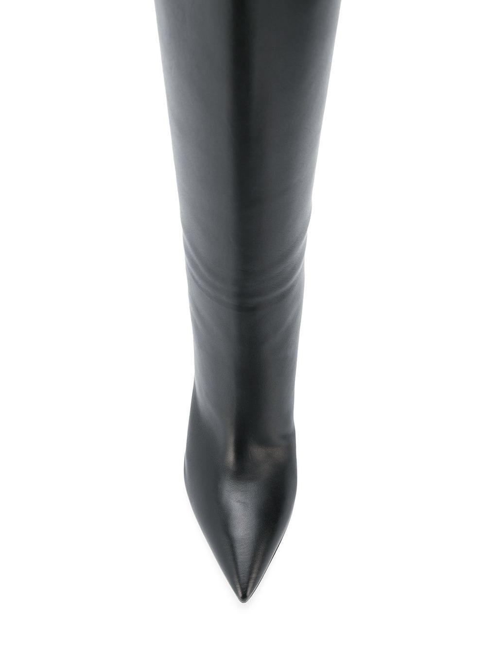 Botas con tacón medio Gianvito Rossi de Cuero de color Negro