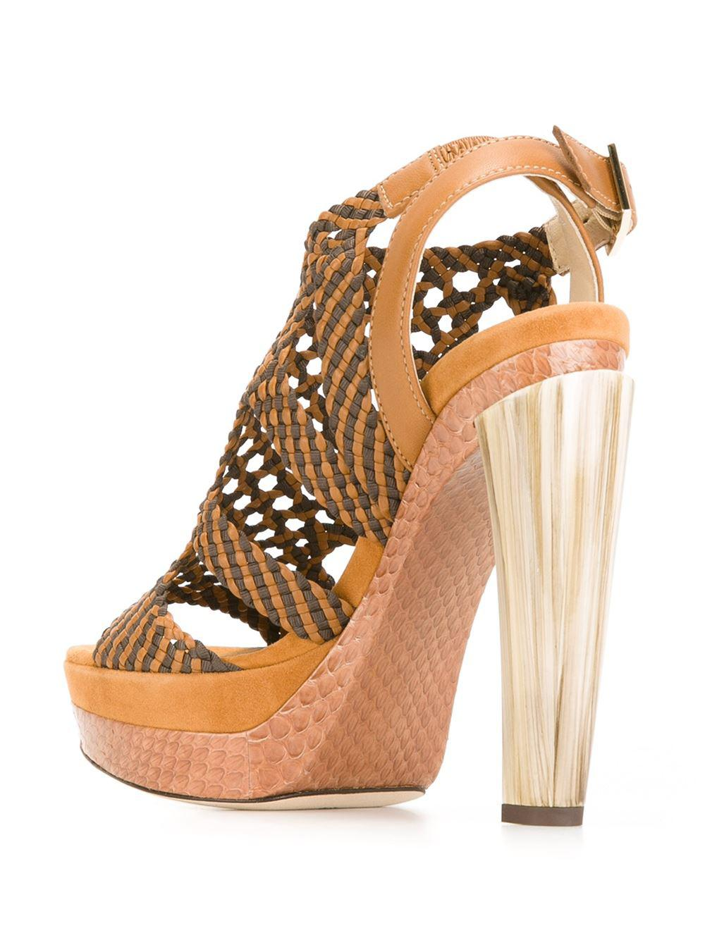 Jimmy Choo 'Taytum 130' sandals - Nude & Neutrals farfetch