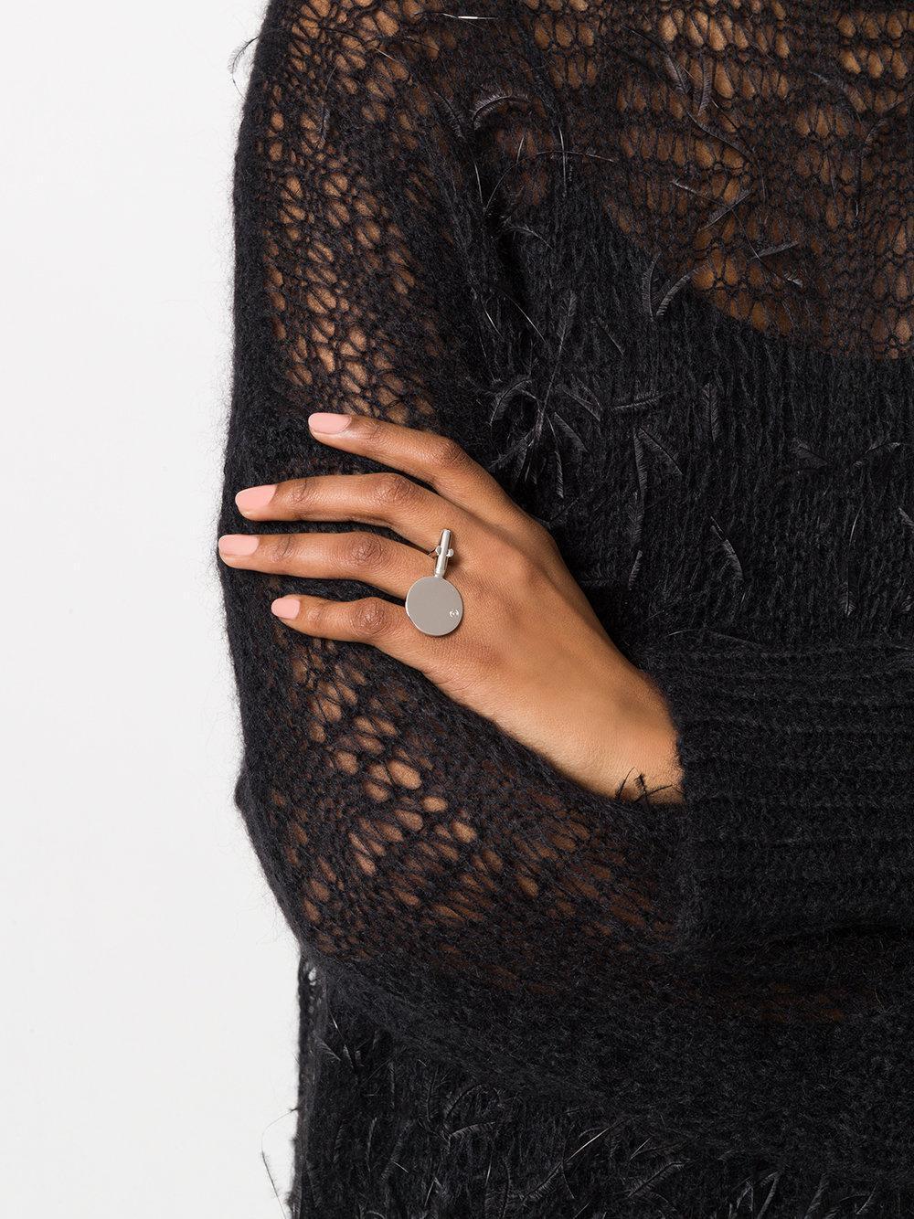 MM6 by Maison Martin Margiela Cufflinks Ring in Metallic