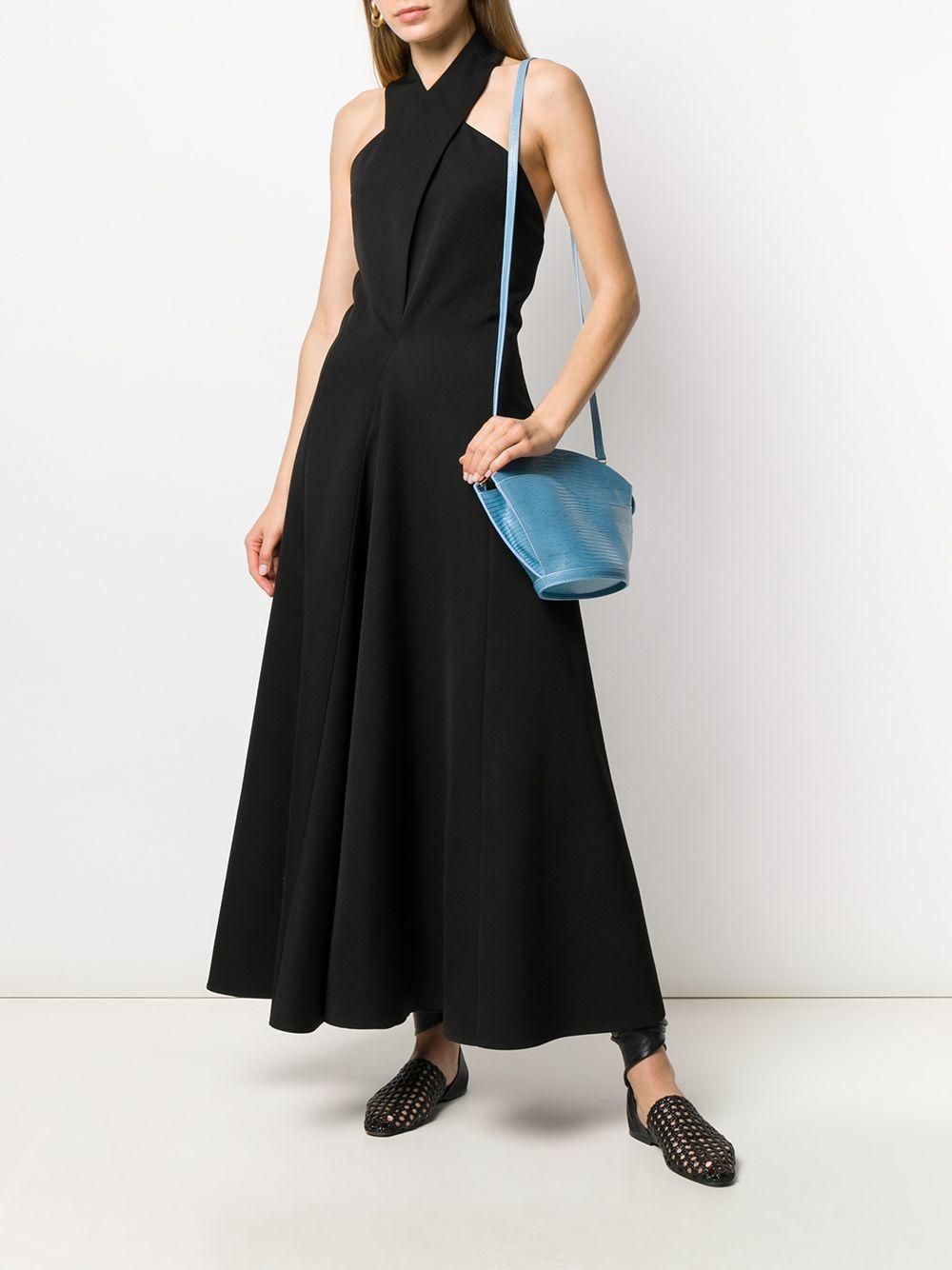 Robe longue à dos-nu Laines Jil Sander en coloris Noir