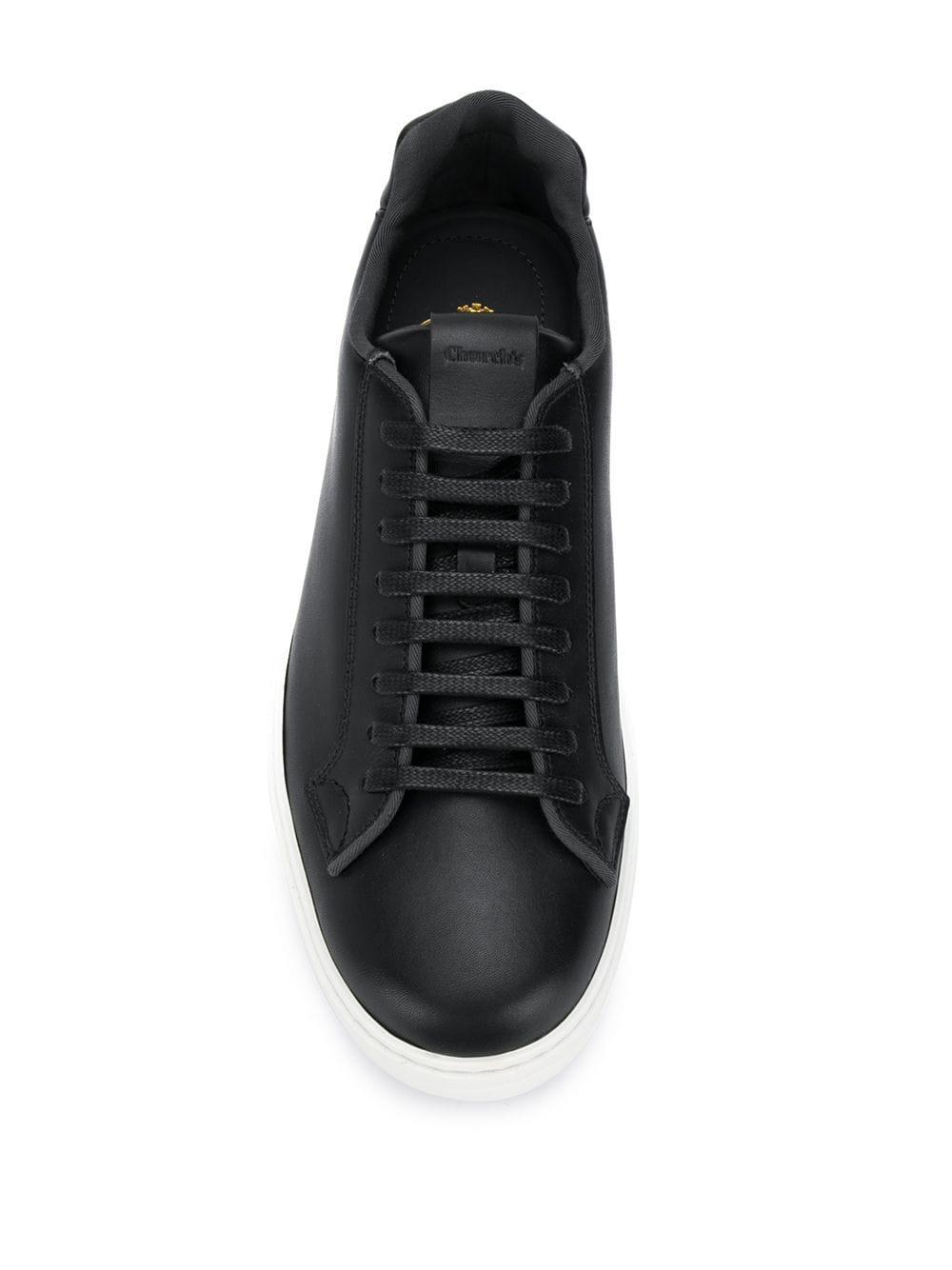 Zapatillas de béisbol Church's de Cuero de color Negro para hombre